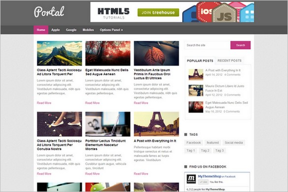 Portal Free WordPress theme