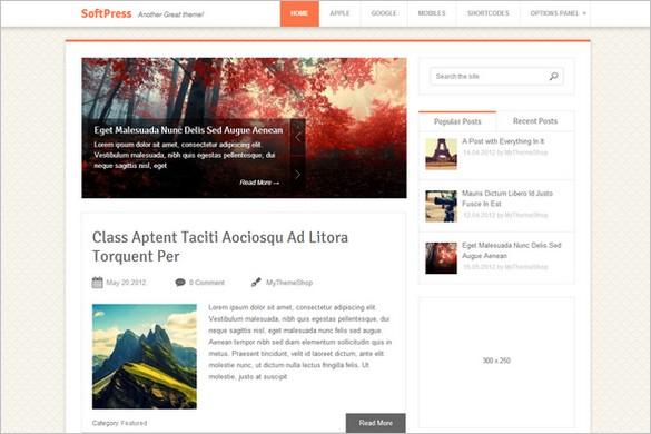 SoftPress - A Refined WordPress Theme from MyThemeShop