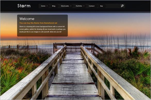 Storm is a stunning fullscreen WordPress Theme