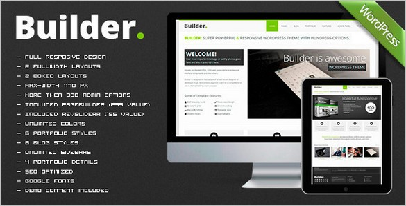 BUILDER Responsive Multi-Purpose WordPress Theme