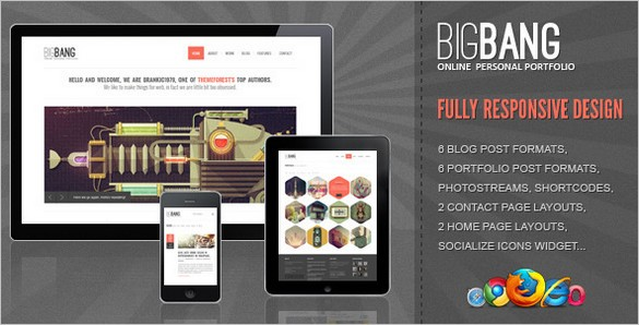 Bigbang is a responsive WordPress Theme