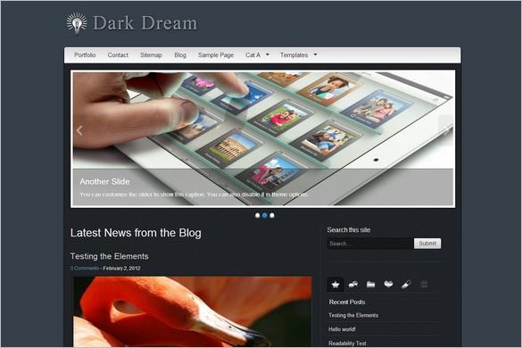Dark Dream Free WordPress Theme by Andy'sThemes