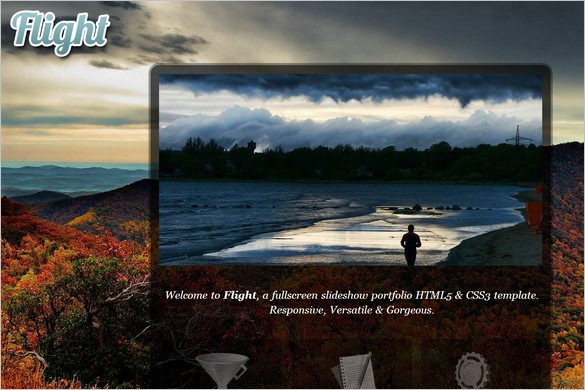 Flight is a fullscreen WordPress Theme