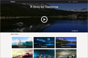 Focus is a free video WordPress Theme by SiteOrigin