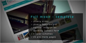 Full moon is a beautiful HTML Template