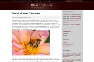 Glossy Red Free WordPress Theme by Andy'sThemes