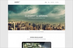 Hardy is a responsive minimalistic WordPress Theme