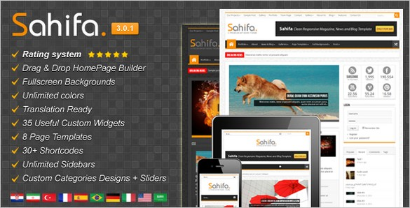 Sahifa Responsive Magazine WordPress Theme