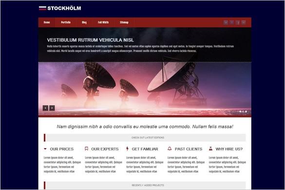 Stockholm Free WordPress Theme by WPTriumph