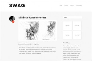 Swag is a free WordPress Theme
