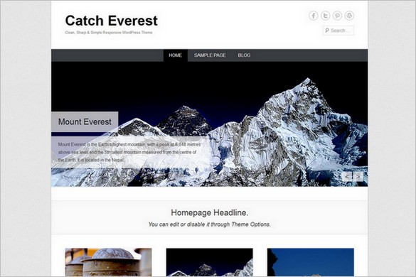 Catch Everest is a free Responsive WordPress Theme by Catch Themes