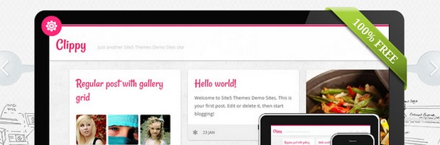 Clippy - A Free WordPress Theme in Pinterest Style