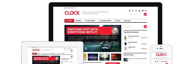 Clock WooCommerce WordPress Theme