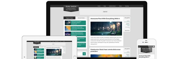 DualShock Free Dual Purpose WordPress Theme