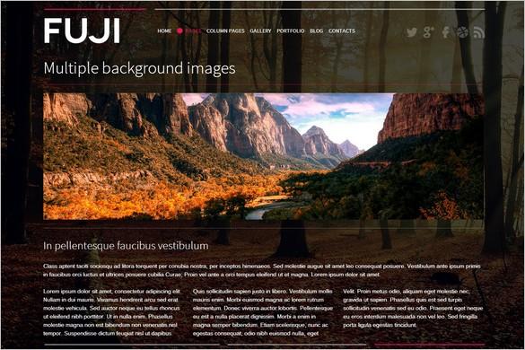 Fuji is a Full Screen Retina Ready WordPress Theme