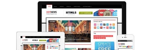 HotNews WordPress Magazine Theme