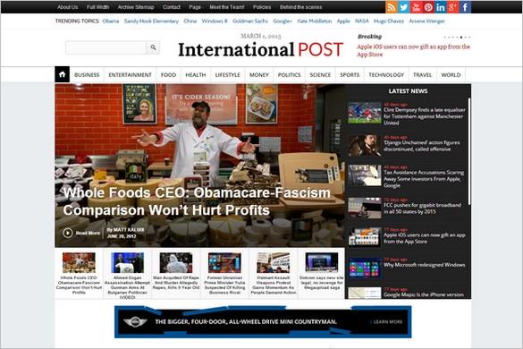 InternationalPost is a Magazine WordPress Theme by Magazine3