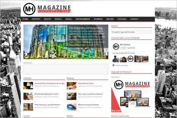 MH Magazine Lite is a free WordPress Theme