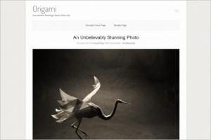 Origami is a free WordPress Theme