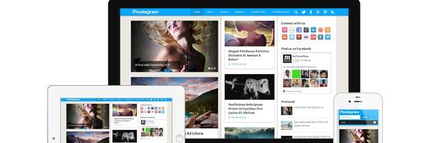 Pinstagram is a Pinterest Inspired WordPress Theme by MyThemeShop