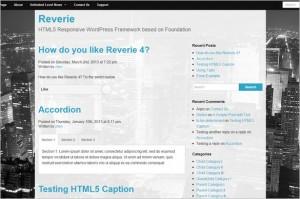 Reverie is a responsive WordPress Framework