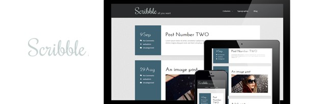 Scribble is a Free WordPress Theme from 7Theme