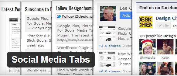 Social Media Tabs is a free WordPress Plugins