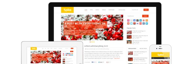 Spike is a colorful and responsive WordPress Theme by MyThemeShop