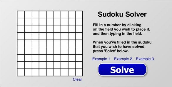 Sudoku Solver - Solve a Sudoku puzzle