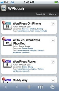 WPtouch automatically transforms your WordPress website for mobile devices