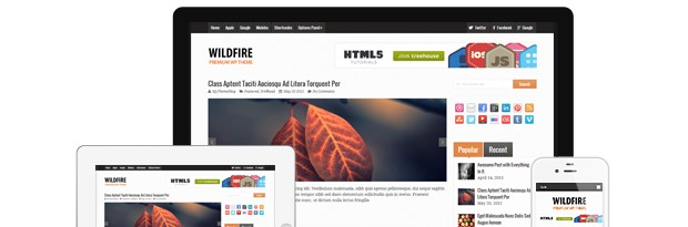 Wildfire WordPress Magazine Theme