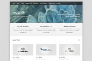 deCente is a free portfolio WordPress Theme by ThemeShift