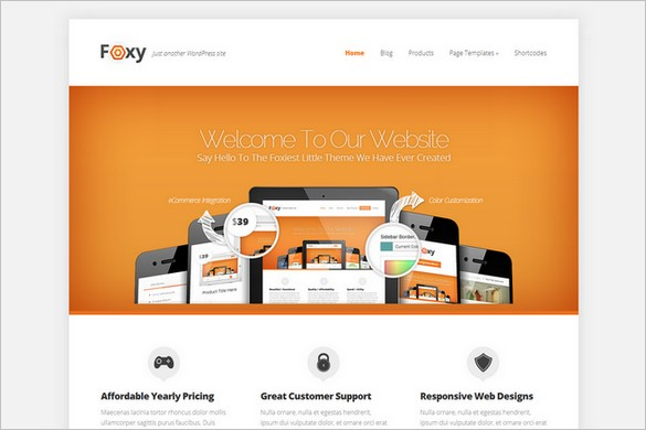 Foxy - A Business WordPress Theme from Elegant Themes