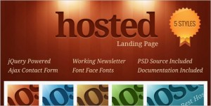 Hosted Landing Page Template