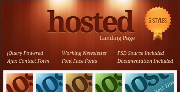Free files- Hosted Landing Page Template