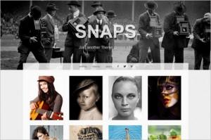 Snaps is a free Portfolio WordPress Theme from Graph Paper Press