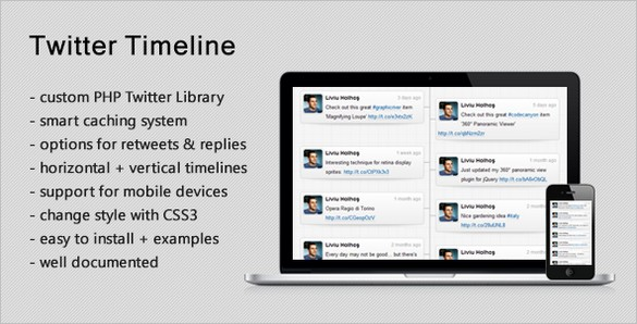 Free files - Responsive Twitter Timeline