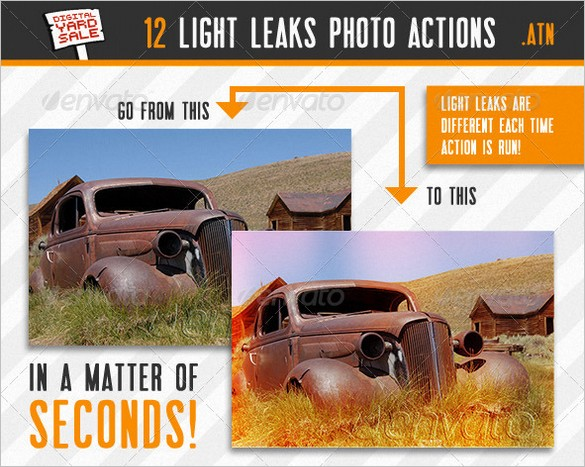 Free files - Vintage Light Leaks Photo Actions