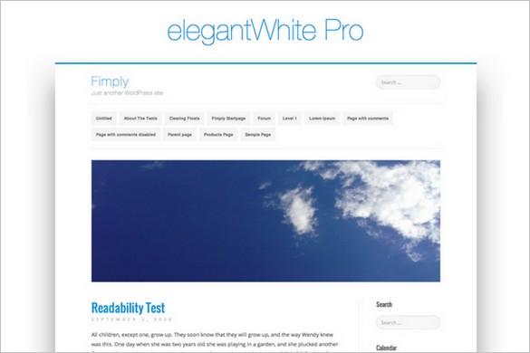elegantWhite Pro is a premium WordPress Theme