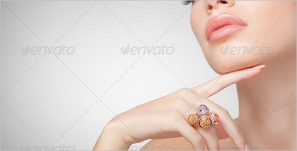 Freebies - Beautiful woman wearing jewelry