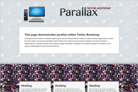 Bootstrap Parallax Free WordPress Theme by Brag Themes