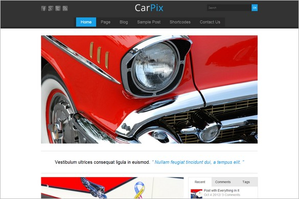 CarPix is one of many Elegant WordPress Themes from Themes4all