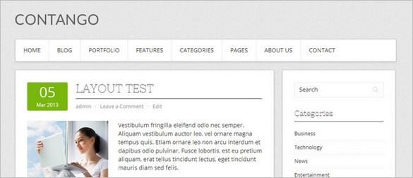 Usable WordPress Themes - Contango