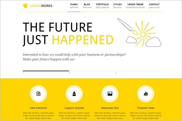 Outstanding WordPress Themes - Lemon