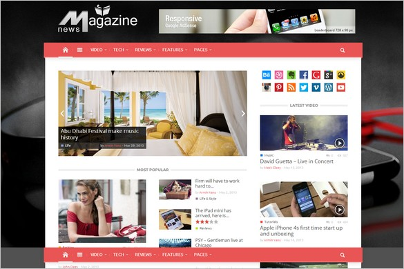 Outstanding WordPress Themes - Magazinly