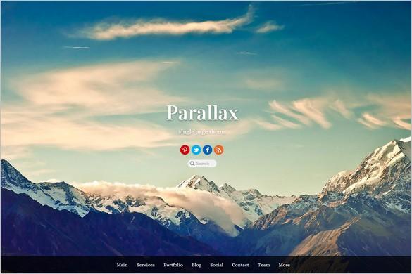 Outstanding WordPress Themes - Parallax