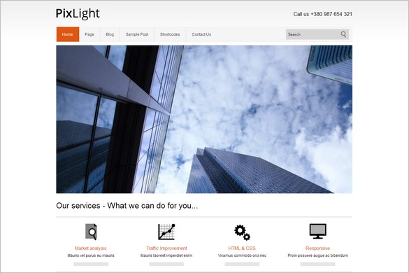 PixLight is one of many Elegant WordPress Themes from Themes4all
