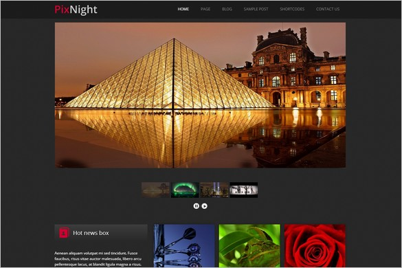PixNight is one of many Elegant WordPress Themes from Themes4all