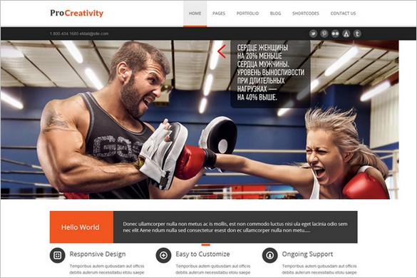 Outstanding WordPress Theme - Procreativity