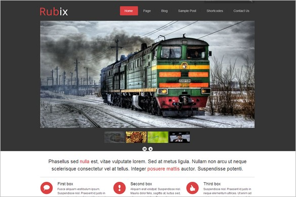 Rubix is one of many Elegant WordPress Themes from Themes4all